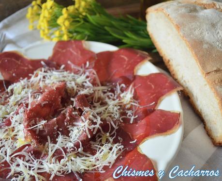 Cecina de León con queso curado