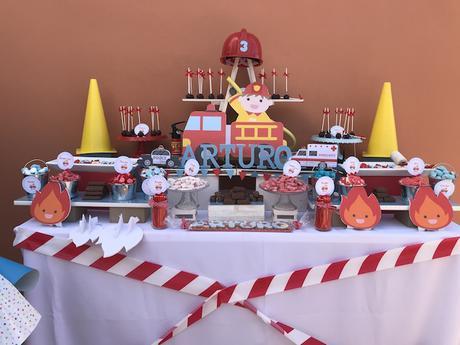 Tercer cumpleaños arturo bombero