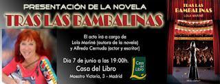 Crónica de la presentación de Tras las bambalinas en la librería Alibri