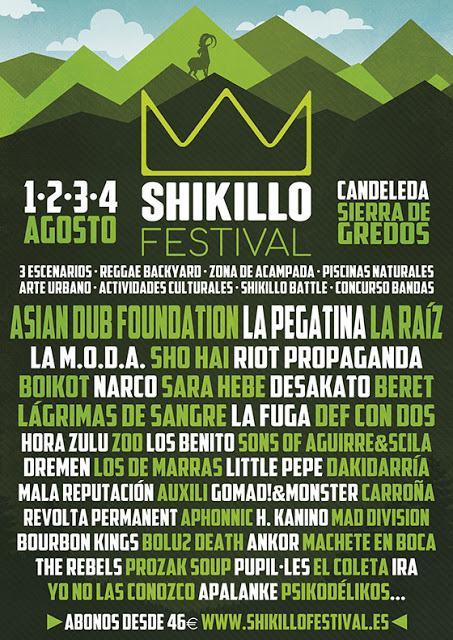 Shikillo Festival 2018: Asian Dub Foundation, La Pegatina, La Raíz, La M.O.D.A., Boikot, Riot Propaganda, Desakato, Narco, La Fuga...