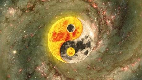Símbolo representando la teoría del Yin y el Yang