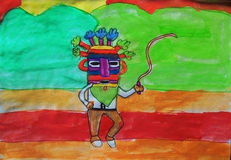 Diablo Huma, personaje de las Fiestas Tradicionales