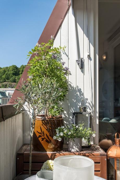 vivienda sueca piso terraza rústico mezcla estilos decorativos decoración sueca ático rustico y nórdico