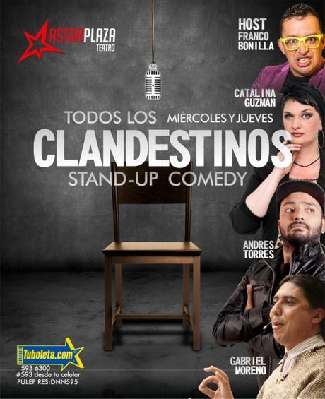 Una mujer 'conversante' en Clandestinos stand up comedy en el Astor Plaza