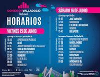 Festival Conexión Valladolid 2018, horarios