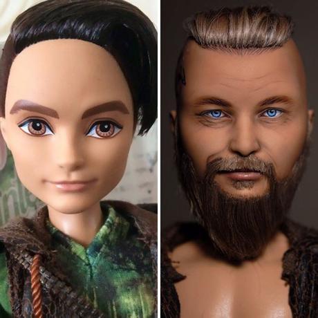 Olga Kamenetskaya, una artista ucraniana borra el maquillaje de las muñecas y las hace casi reales
