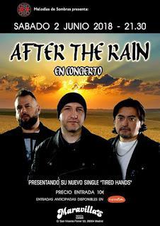 DMR cubrirá el concierto en Madrid de After The Rain (02-06-2018)