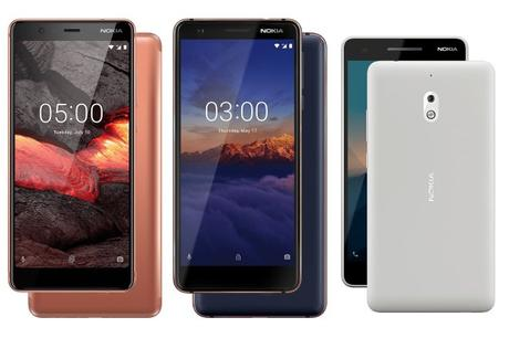 Nokia 2.1, 3.1, 5.1-nuevos telefonos