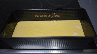Bizcocho de naranja y queso mascarpone