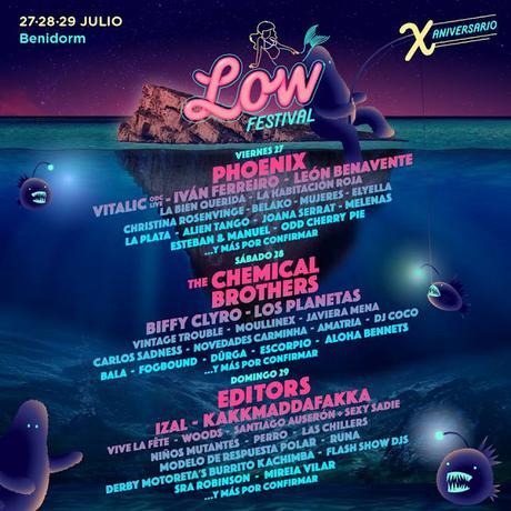 Distribución por días del Low Festival 2018