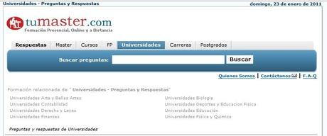 Tumaster.com buscador de Masters, cursos, oposiciones y becas