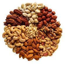 Un menú de frutos secos muy saludable