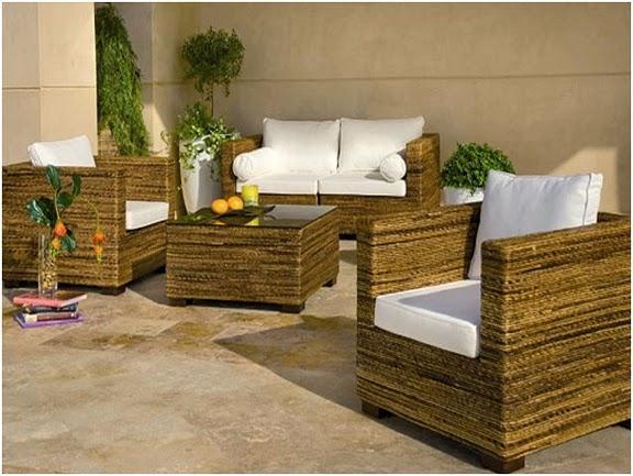 Conjunto sillones terraza jardin morocco acacia car for Conjunto muebles terraza jardin