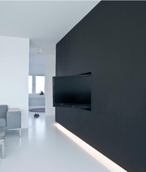 Integrar la tv en la pared paperblog - Colgar la tele en la pared ...