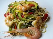 Espaguettis gambas calabacin Jamie Oliver)