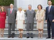 Reyes reciben Príncipe Carlos Camila almuerzan Palacio Zarzuela junto Príncipes Asturias