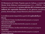 VIII Convocatoria para Talleres Expresión Literaria