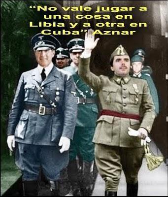 José María Aznar en pleno delirio fascista