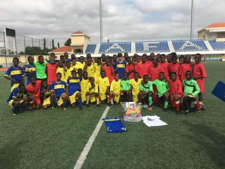 Homenaje a Daniel Cabanelas de nuestra Escuela de Fútbol Base AFA Angola