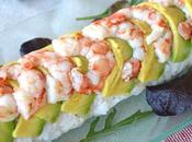 Dragon Sushi Roll Aguacate, Salmón Gambas