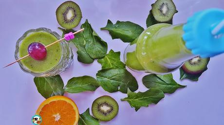 Batido de kiwis con frutas