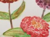 Acuarelas: flores 12x20cm