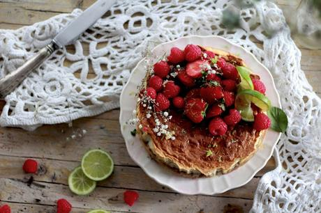 Tarta de lima y frambuesas - Lime and rapsberries pie
