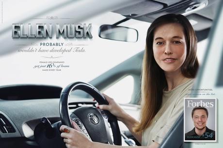 """""""Si Ellon Musk fuera mujer, no hubiera inventado Tesla"""", la campaña de Forbes que denuncia la brecha salarial"""