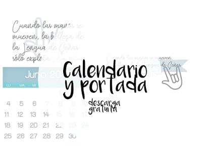 Calendario y portada de Junio para la  Comunidad de Sordos