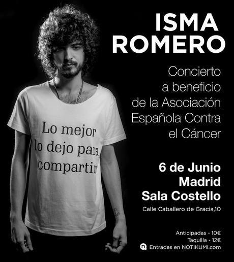 Concierto benéfico de Isma Romero a favor de la Asociación Española Contra el Cáncer