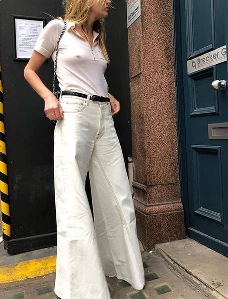 De nuevo, el pantalón blanco