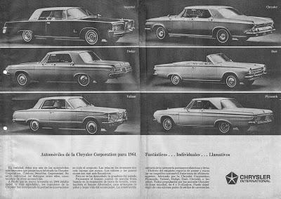 Los Chrysler del año 1964