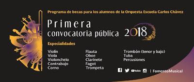 """ABREN CONVOCATORIAS PARA LA ORQUESTA ESCUELA """"CARLOS CHÁVEZ"""" Y ENSAMBLE ESCÉNICO VOCAL"""
