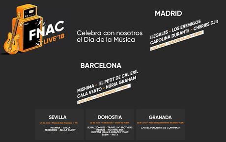 Fnac celebra el Día de la Música con conciertos gratis en Madrid, Barcelona, Sevilla, San Sebastián y Granada