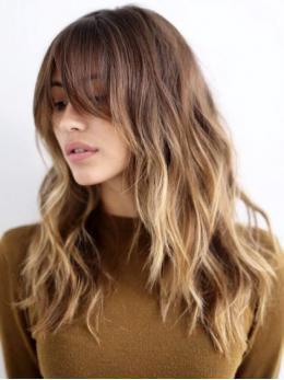 Ombre marrón a las pelucas delanteras rubias del cordón del pelo humano- edw2024