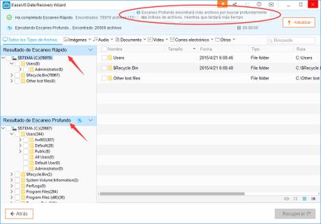 EaseUS Data Recovery Wizard Free para recuperar archivos