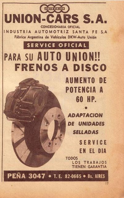 Frenos a discos para el Auto Union