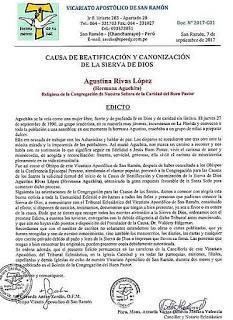 SIERVA DE DIOS AGUSTINA RIVAS (1920-1990)