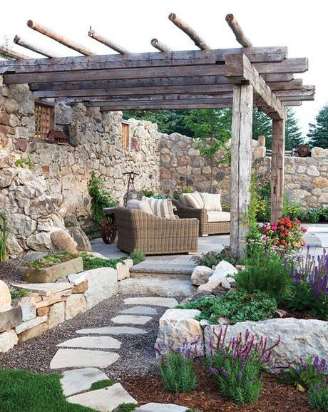 6 ideas de diseños rústicos para decorar tu jardín