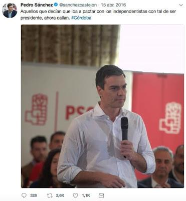 PEDRO SÁNCHEZ, MENUDO CARADURA MENTIROSO