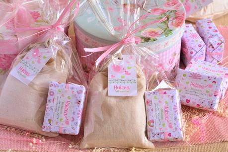 Detalles de bautizo pack jabones y bolsitas aromaticas