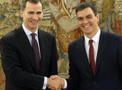Pedro Sanchez juramentado Presidente Felipe España.
