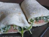 Tortillas trigo (wraps) espinacas crema queso salmón ahumado