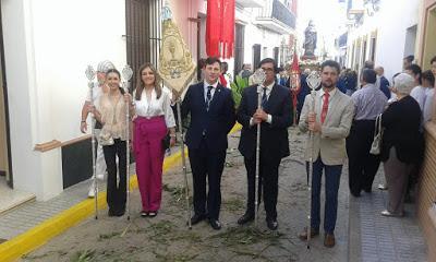 Participación en la procesión del Corpus Christi