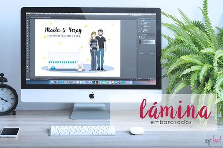 Diseño gráfico: Lámina embarazados
