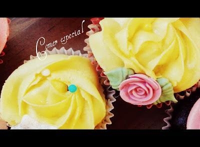 Receta de cupcakes de limĂłn y chocolate sin lactosa