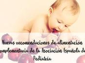 Nuevas recomendaciones alimentación complementaria Asociación Española Pediatría