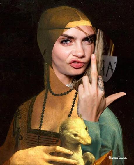 15 fotos Collage con cuadros antiguos y famosos muy graciosos