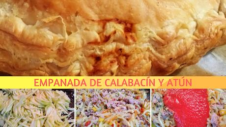 RECETA EMPANADA DE CALABACÍN Y ATÚN