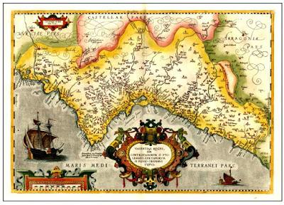 Mapa del Reino de Valencia, a mediados del siglo XVII.